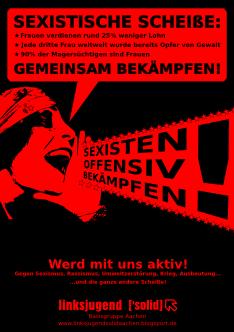 Plakat gegen Sexismus